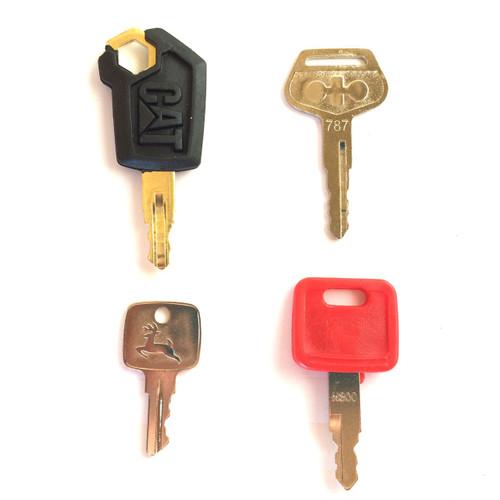 4 piece heavy equipment key set