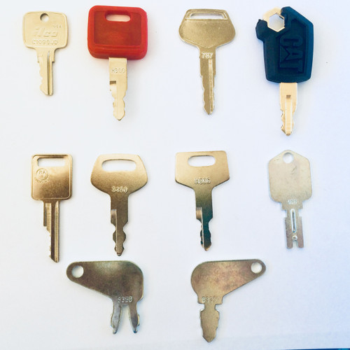 Heavy equipment key set