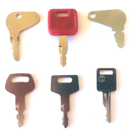 Case Construction equipment key set