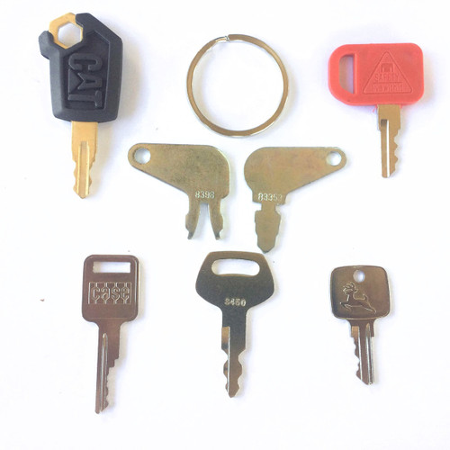 Construction equipment key set