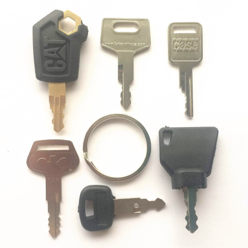 7 pc construction equipment key set