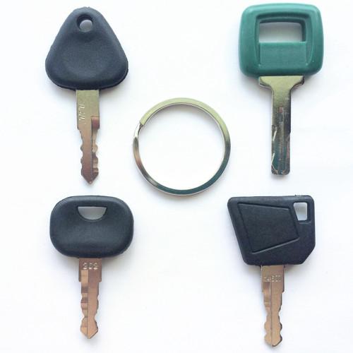 4 PC Volvo Construction Equipment key set