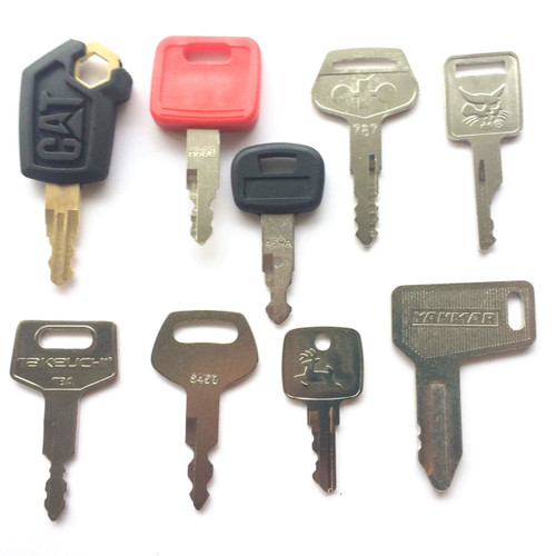 9 PC Heavy Equipment Key Set