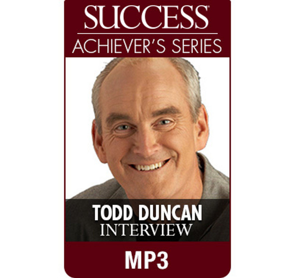 SUCCESS Achiever's Series MP3: Todd Duncan