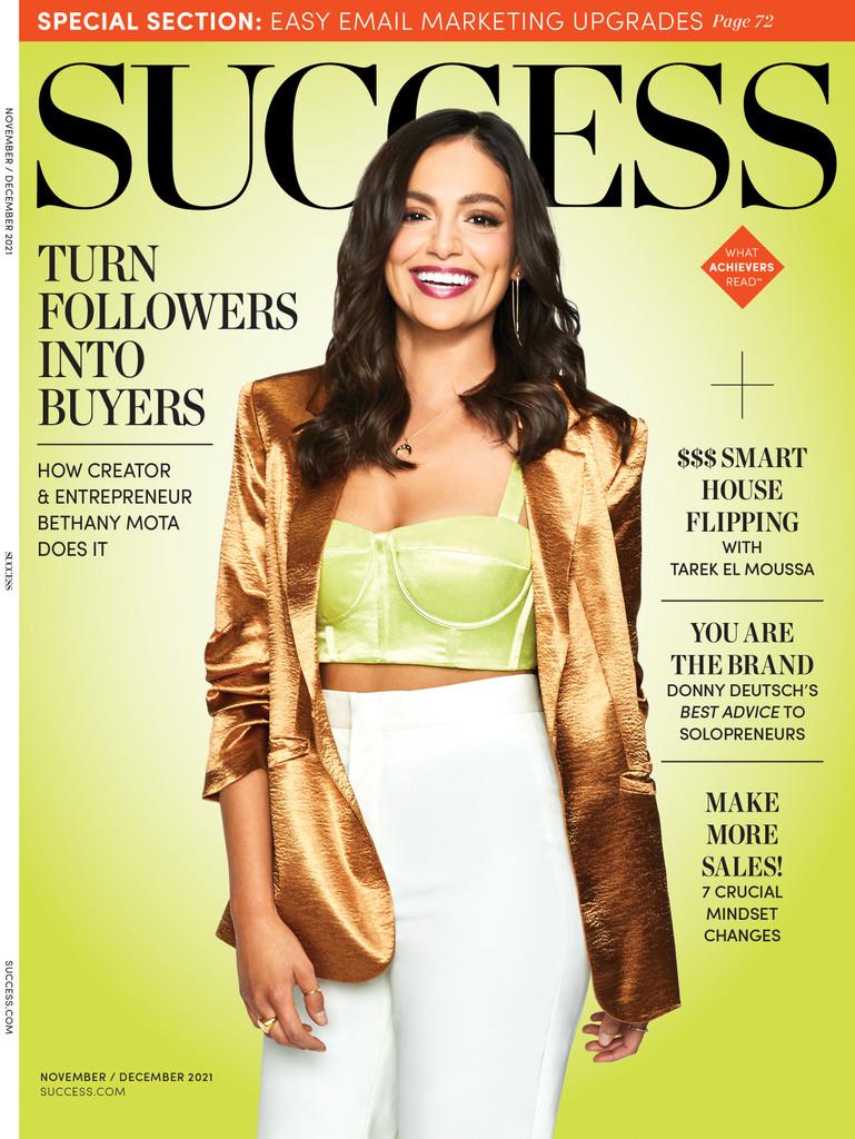 Success Magazine Nov/Dec 2021 - Bethany Mota