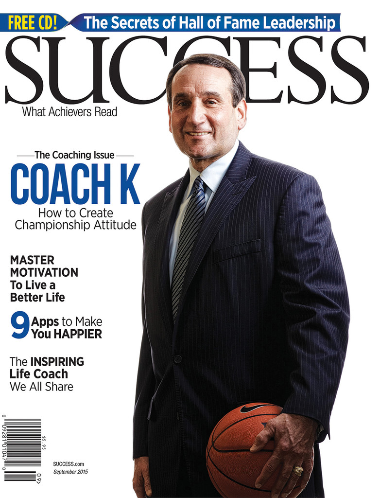 SUCCESS Magazine September 2015 - Mike Krzyzewski