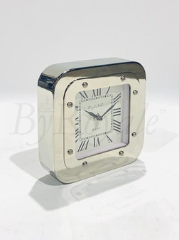 Silver Square Table Clock