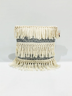 Tassel Cushion Beige