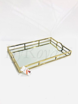 Gold Mirror Rectangle Tray