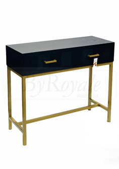 Black/Gold Console Table