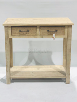 Wood Console 2 Drawers