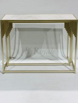 Marble/Champagne Console Set