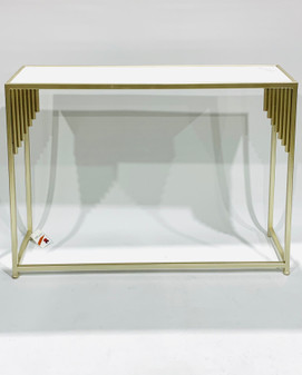 Marble/Champagne Console Sml