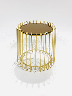 Round Gold Side Table Lrg