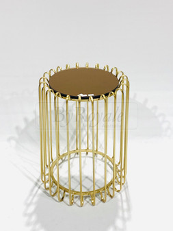Round Gold Side Table Sml