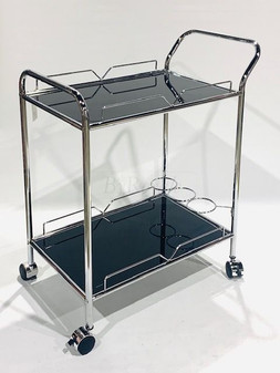Black/Silver Bar Trolley