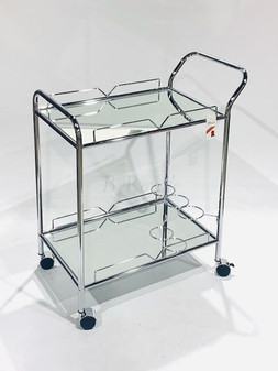 Silver/Mirror Bar Trolley