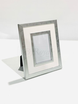 Silver/White Photoframe Sml