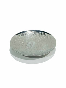 Round Hammered Silver Tray