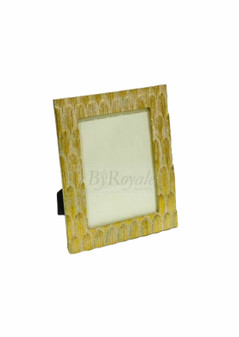 Gold Feather Photo Frame Lrg
