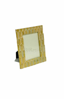 Gold Feather Photo Frame Sml