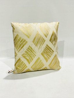 White/Gold Cushion