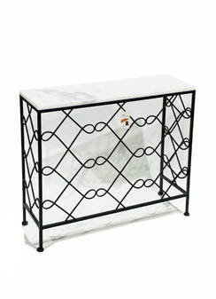 White/Black Marble Console Table