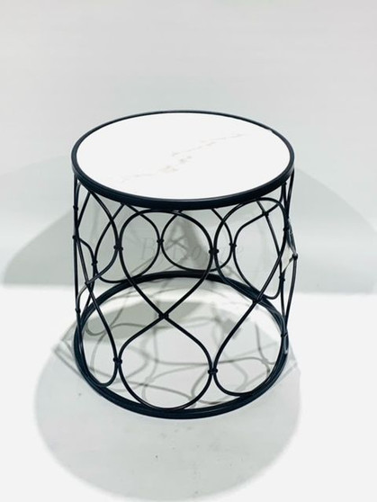 Round Classic Marble Table Lrg
