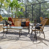Empire Outdoor Wicker Seating Set (Lifestyle View)