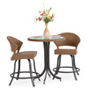 Empire Outdoor Wicker 3 Piece Curved Counter Height Set