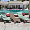 Kokomo Outdoor Wicker Armless Chaise Lounge (Lifestyle View)