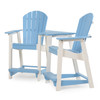 Oceanside Outdoor Poly Lumber Adirondack Counter Height Settee with Table (Alternate View)
