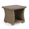 Maldives Outdoor Wicker End Table (Ash Weave with Grey Birch Finish)