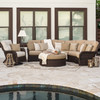 Maldives Outdoor Wicker Modular Sectional (Lifestyle View)