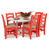Poly Lumber Patio Rectangular Dining Table Shown with 6 chairs