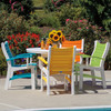 Bayshore Outdoor 5 Piece Multi-Colored Poly Lumber Dining Set (Lifestyle)