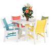 """Bayshore Outdoor 42"""" Square Poly Lumber Dining Table"""