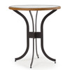 Empire Outdoor Wicker Bar Height Table with Glass Top