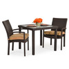 Kokomo 3pc Stackable Dining  Set in Tortoise Shell