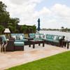 Kokomo Outdoor Wicker Sectional Seating Set (Lifestyle View)