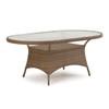 "Kokomo Outdoor Wicker 40"" x 70"" Oval Dining Table in Oyster Grey"