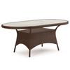"""Kokomo Outdoor Wicker 40"""" x 70"""" Oval Dining Table in Tortoise Shell"""