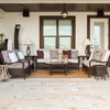 Kokomo Outdoor Wicker Seating Group (Lifestyle View)