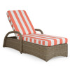 Maldives Outdoor Wicker Chaise Lounge (Clove Weave with Grey Birch Finish)