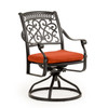 Charleston Outdoor Cast Aluminum Swivel Dining Chair with Optional Cushion