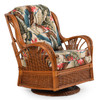 Bali Indoor Rattan High Back Swivel Glider