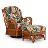 Bali Indoor Rattan High Back Swivel Glider (Staged View)