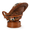 Bali Rattan Swivel Rocker (alternate view)