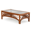 Bali Indoor Rattan Cocktail Table with Glass Top