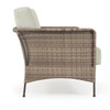 Garden Terrace Outdoor Wicker Sofa with Cushions (Alternate View)